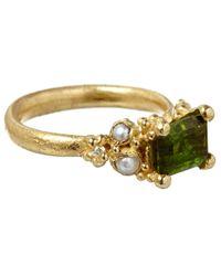 Ruth Tomlinson - Green Gold Tourmaline Ring - Lyst