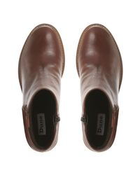 Dune - Blue Todd Block Heeled Long Boots - Lyst