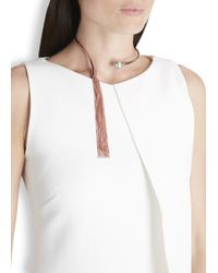 Ca&Lou - Metallic Inez Fringed 24kt Rose Gold-plated Necklace - Lyst