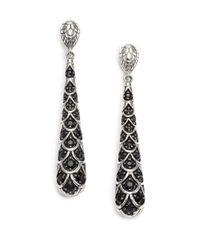 John Hardy - Metallic Naga Black Sapphire & Sterling Silver Drop Earrings - Lyst