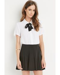 Forever 21 | Black Fluted Skirt | Lyst