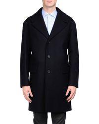 Prada - Blue Coat for Men - Lyst