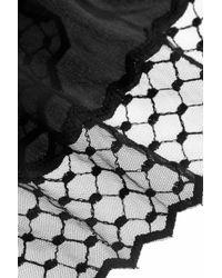 Mimi Holliday by Damaris - Black Knickerbocker Glory Tulle-Trimmed Silk Camisole - Lyst