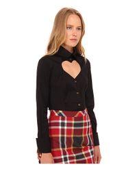 Vivienne Westwood Red Label | Black Classic Poplin Love Shirt | Lyst