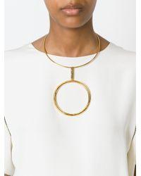 Stella McCartney   Metallic 'ring' Necklace   Lyst