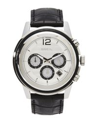 Breil | Metallic Tw1191 Silver-Tone & Black Watch | Lyst