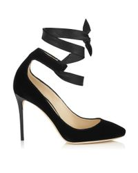 Jimmy Choo | Black Rosana 100 | Lyst