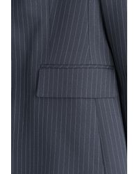 HUGO | Avrill Pinstriped Wool Blend Blazer - Blue | Lyst