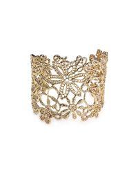 Carolee | Metallic Open Weave Cuff | Lyst