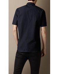 Burberry - Blue Cotton Poplin Shirt for Men - Lyst