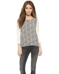 Rebecca Taylor | White Lena Leopard Silk Top - Chalk | Lyst