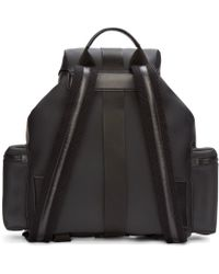 DSquared² - Black Rubber Backpack for Men - Lyst