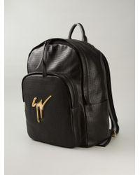 Giuseppe Zanotti | Black Perforated Backpack for Men | Lyst