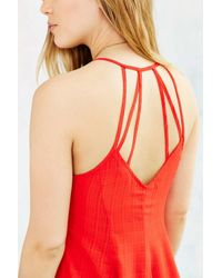 Glamorous - Orange Strappy-back Skater Dress - Lyst