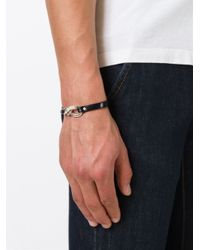 DIESEL | Metallic Chain Detail Bracelet for Men | Lyst