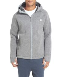 Bench | Gray Knit Zip Hoodie for Men | Lyst