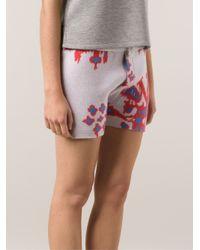Baja East - Pink Cashmere Print Short - Lyst
