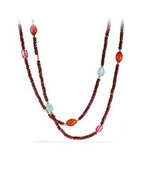 David Yurman | Red Bead Necklace With Garnet And Pink Tourmaline | Lyst