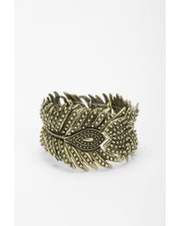 Urban Outfitters | Metallic Peacock Feather Bracelet | Lyst