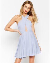 ASOS - Blue Cross Front Super Full Skater - Lyst