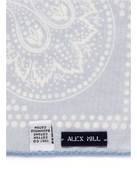 Alex Mill   Blue Paisley Print Cotton Pocket Square for Men   Lyst