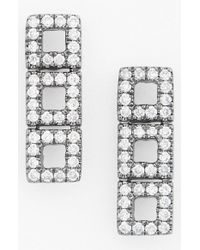 Dana Rebecca | Black 'allison Joy' Diamond Drop Earrings | Lyst