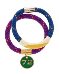 Marc By Marc Jacobs | Purple Set Of Two Braided Cord And Enamel Bracelets | Lyst