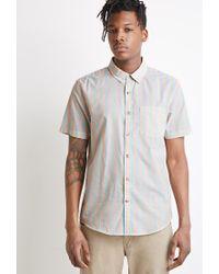 Forever 21 - Blue Awning-striped Shirt for Men - Lyst
