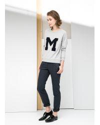 Mango - Gray M Sweatshirt for Men - Lyst