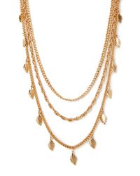 Forever 21 - Metallic Whimsical Feather Layered Necklace - Lyst