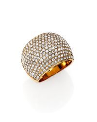 Michael Kors - Metallic Brilliance Statement PavÉ Dome Ring/Goldtone - Lyst
