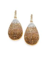ABS By Allen Schwartz | Metallic Ombre Pave Drop Earrings | Lyst
