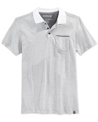 Hurley | Gray Lagos Dri-fit Polo for Men | Lyst