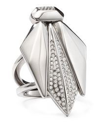 Rebecca Minkoff | Metallic Bug Cocktail Ring | Lyst