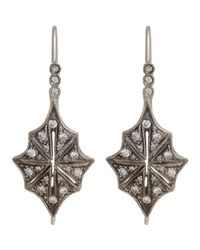 Cathy Waterman - White Star Drop Earrings - Lyst
