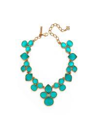 Oscar de la Renta - Blue Carved Resin Necklace - Lyst
