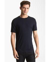 Armani | Blue Jersey Trim Fit T-shirt for Men | Lyst
