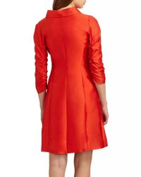 Armani | Orange Silkcotton Gazar Coat | Lyst
