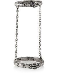 Pamela Love | Metallic Chain Serpent Silver Sapphire Ring | Lyst