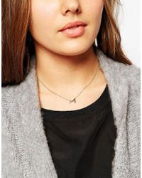 Orelia | Metallic New Arrow Ditsy Necklace | Lyst