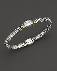 "Lagos - ""glacier"" Rope Bracelet With White Topaz Stone - Lyst"