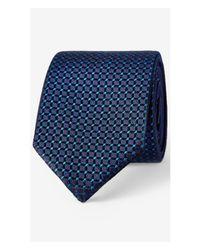 Express - Blue Reversible Slim Silk Tie for Men - Lyst