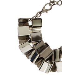 Jaeger - Metallic Angular Links Bracelet - Lyst