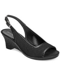 Aerosoles - Black Dozen Roses Wedge Sandals - Lyst