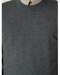 Dolce & Gabbana - Gray Crew Neck Sweater for Men - Lyst