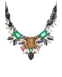BCBGMAXAZRIA - Multicolor Gemstone Spike Necklace - Lyst