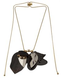 Marni | Black Layered Cord Lock Necklace | Lyst