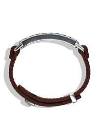 David Yurman - Metallic Modern Cable Id Bracelet In Camel Leather for Men - Lyst
