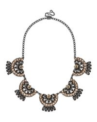BaubleBar | Gray Crystal Mantilla Collar | Lyst