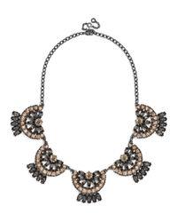 BaubleBar - Gray Crystal Mantilla Collar - Lyst